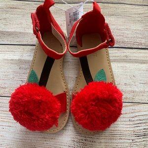 NWT cherry sandals